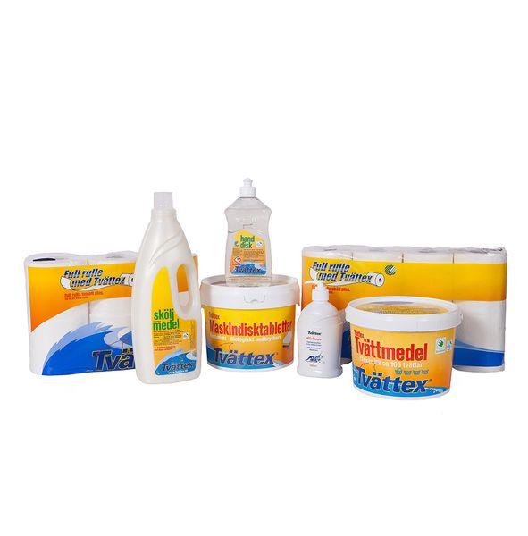 Tvättex Startpaket med flytande tvättmedel