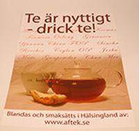 Affisch med reklam för