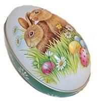 Påskägg i plåt Kaniner 112x69x69