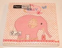 Rosa elefant servetter
