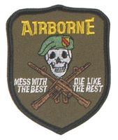 US Army märke - Airbone / mess with the best