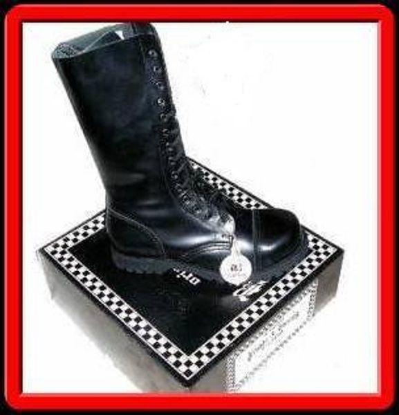Boots & Braces kängor med stålhätta - 14 håls