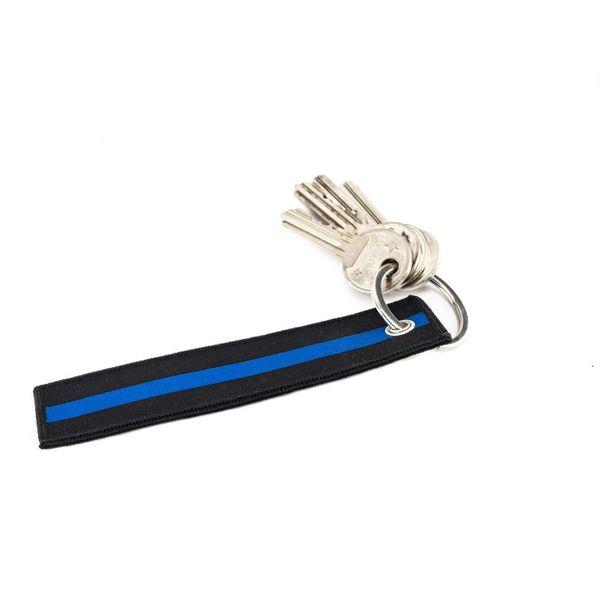 tunna blå linjen nyckelhållare