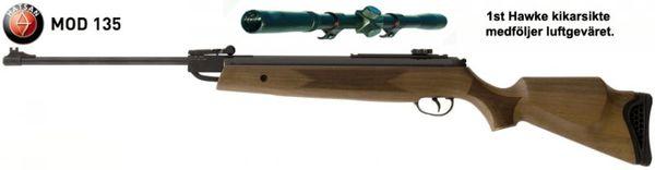 Hatsan 135 Luftgevärskit i naturfärg - 4,5mm