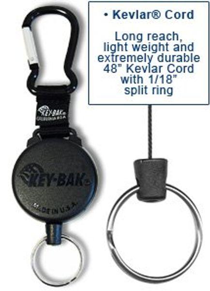 Nyckelhållare Securit™ med karbinhake & kevlartråd