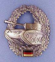 Militär märke för basker - Panzer