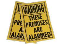 Varning för larm klistermärke