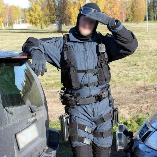 snigeldesign utrustningsbälte polis