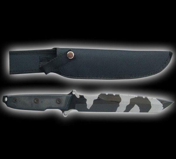 Kraftfull Militärkniv & Stridskniv - Cammofärg