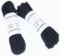 Svarta skosnören - 140cm långa