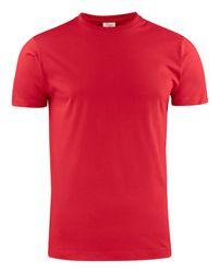 PRINTER HEAVY T-SHIRT RSX RED XXXL
