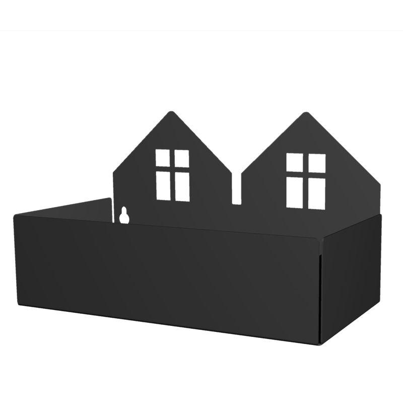 Twin house box, black