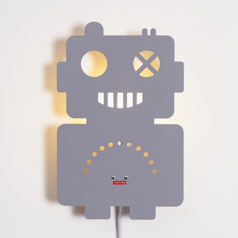 Robot Lamp Grey