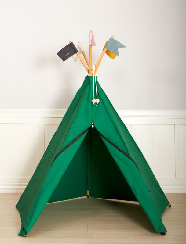 Hippie Tipi Play Tent, Green