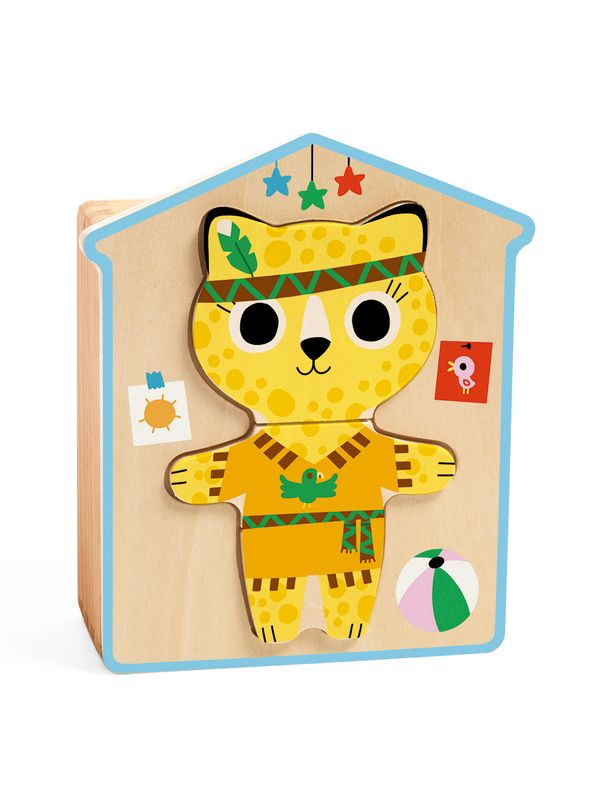 Wooden puzzle, Dressup-Mix