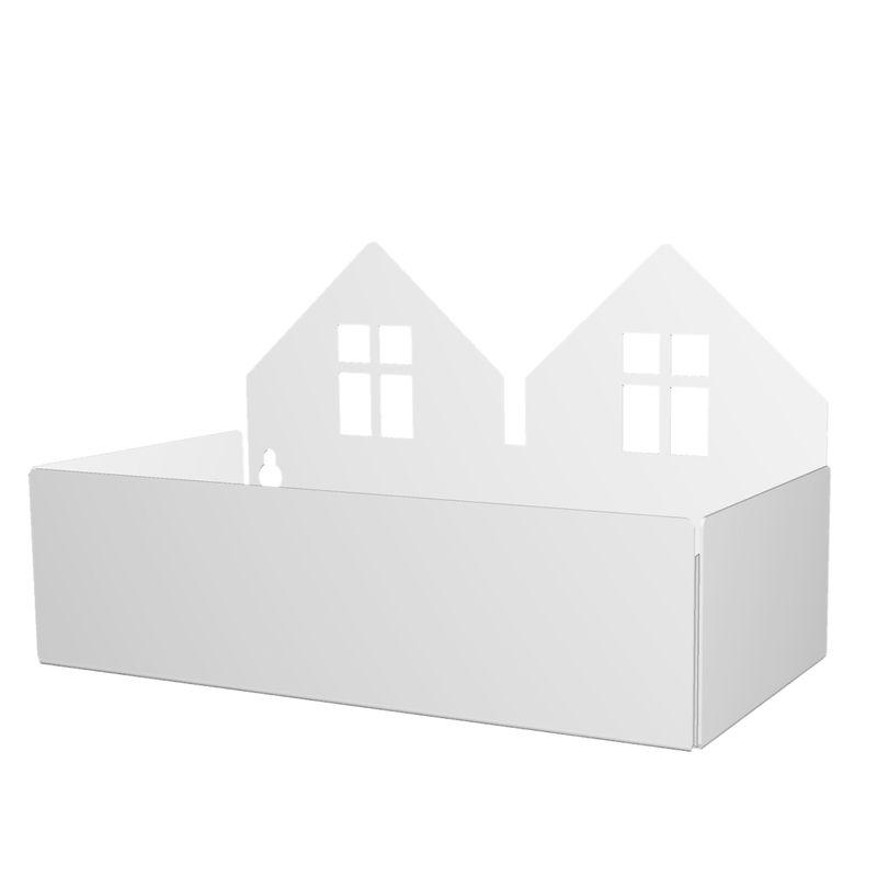 Twin house box, white