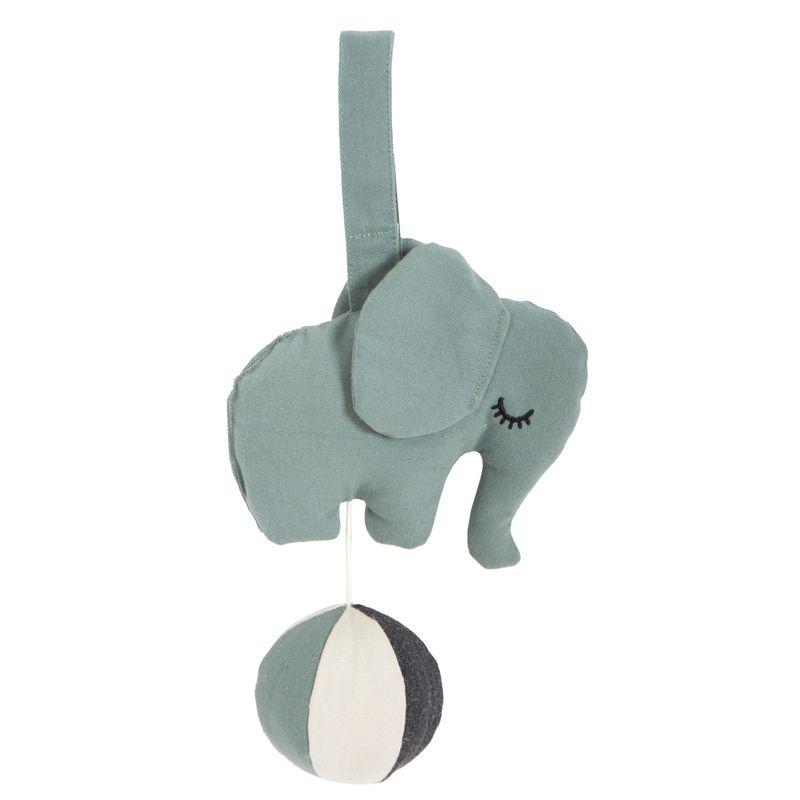 Elephant on a ball - Sea Grey