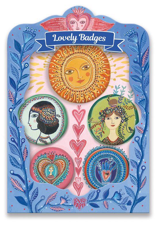 Lucky lovely badges