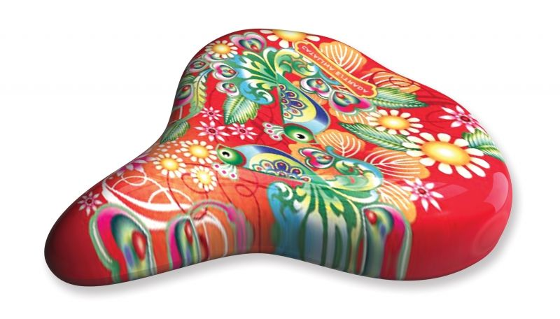 Liix Saddle Cover Catalina Estrada Collage Red