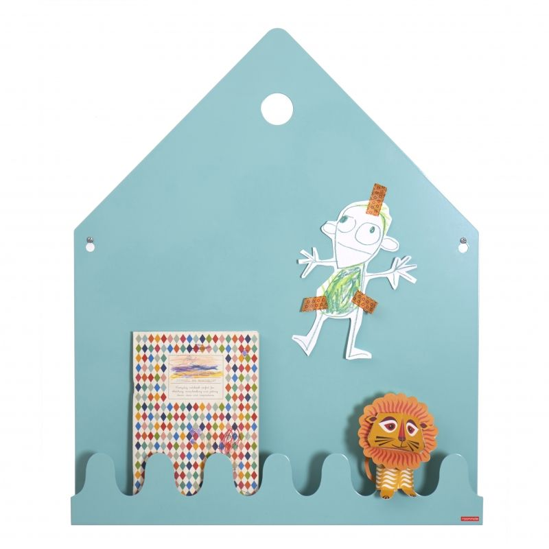 Village Magnetic board Pastel blue/green
