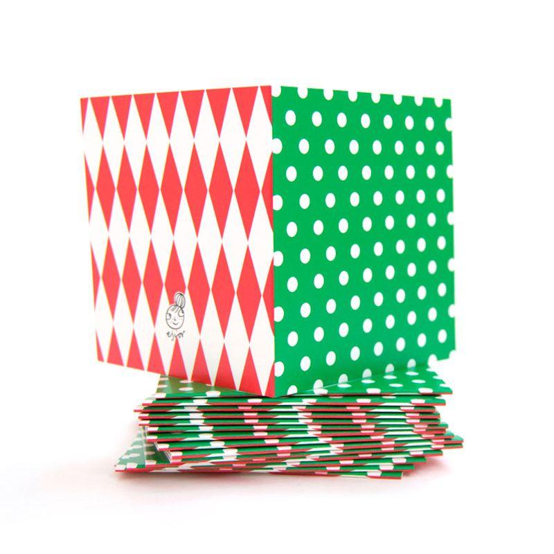 Mönsterkort Litet grönt med vit prick