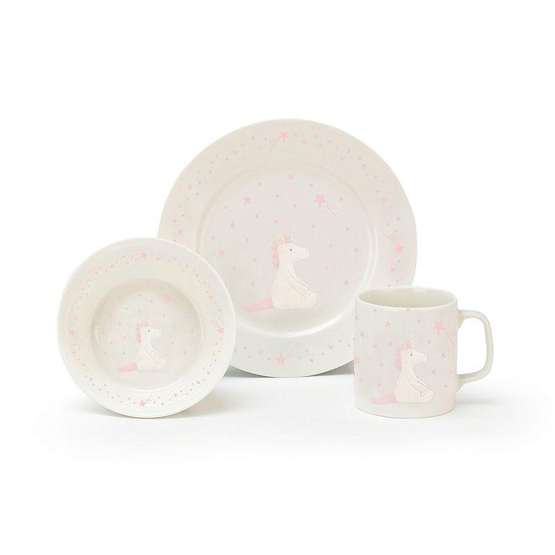 Unicorn Ceramic Bowl,Cup,Plate set