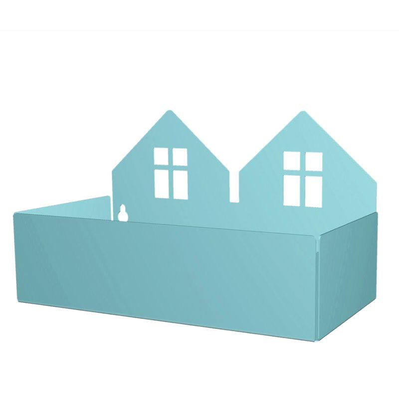 Twin house box, pastel blue