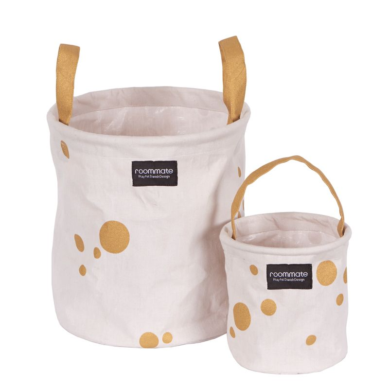 Golden dots basket set