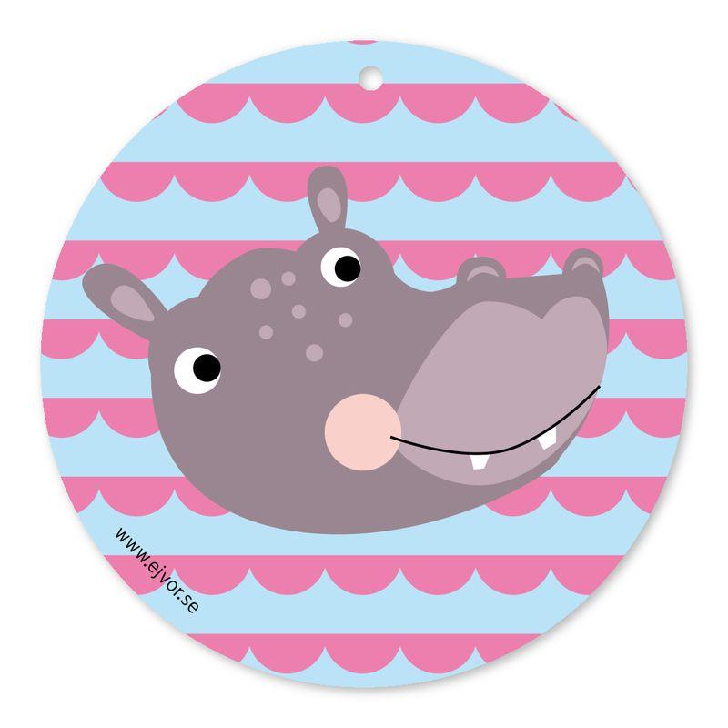 Djurkort Flodhäst