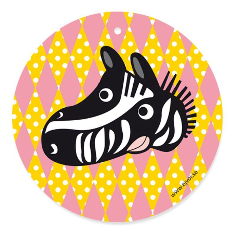 Djurkort Zebra