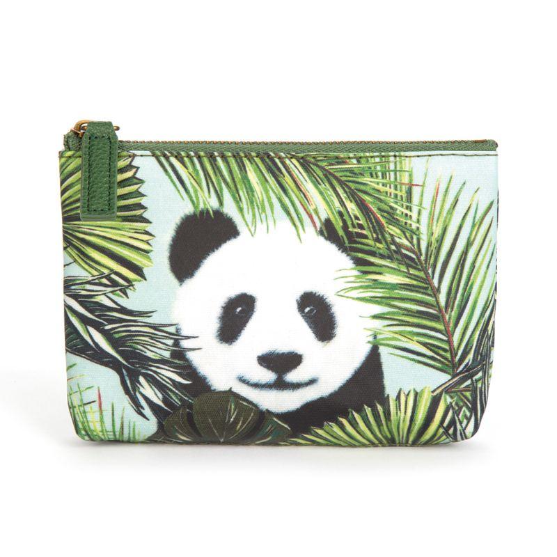 Panda in Palms Pouch