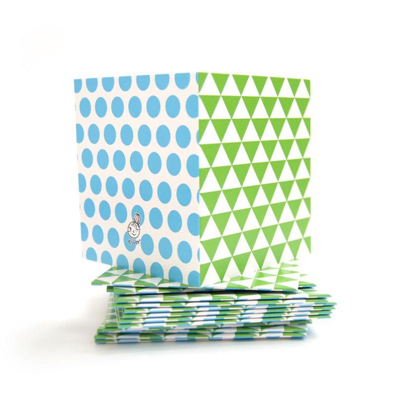 Mönsterkort Litet grön triangel