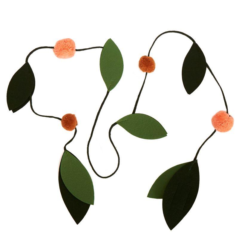 Dekorationsgirlang, löv Felt Garland, Leaf
