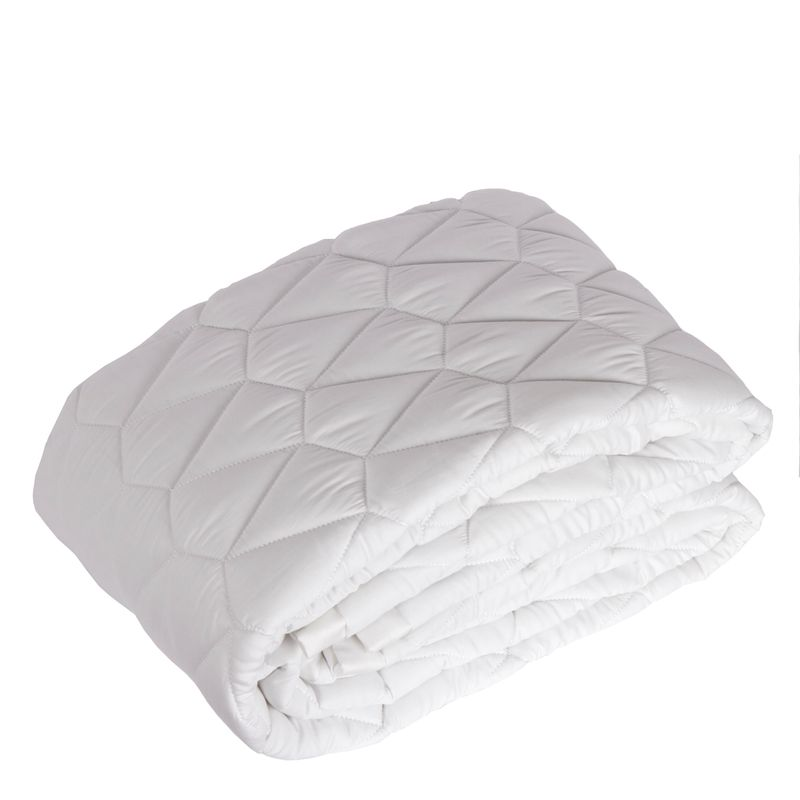 Quilted blanket, off - white