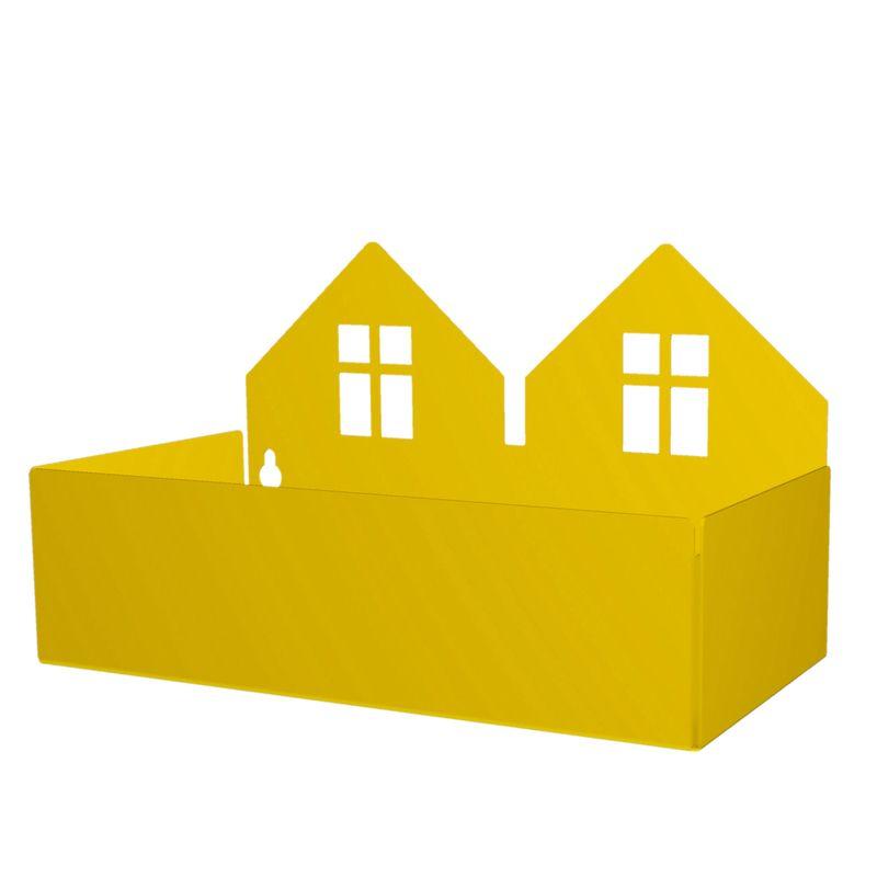 Twin house box, yellow