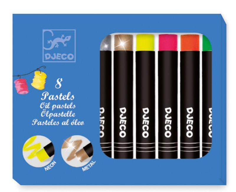 8 oil pastel - pop