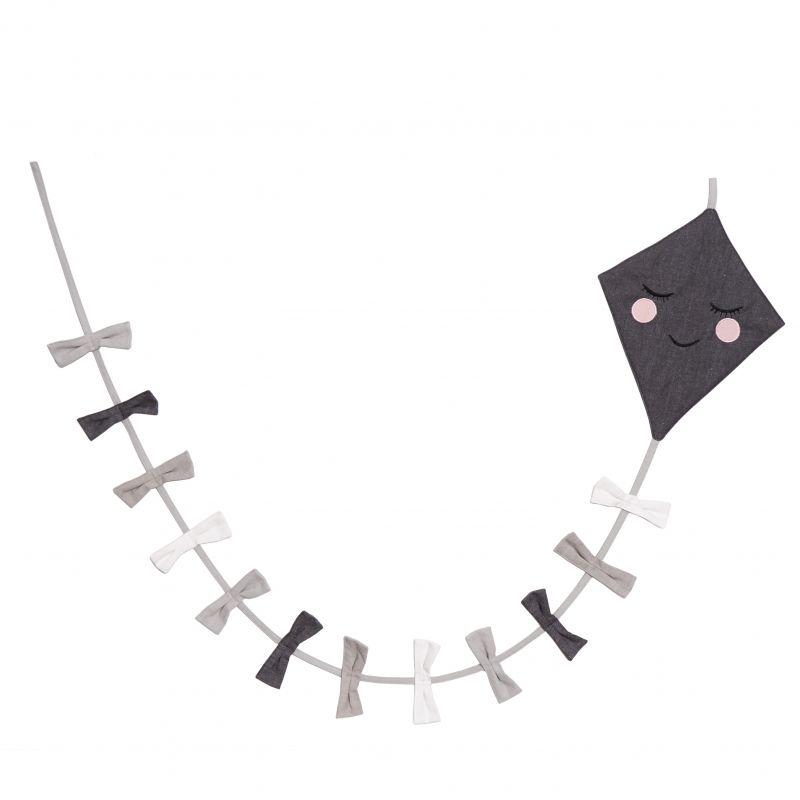 Kite Flag line Grey/black/White
