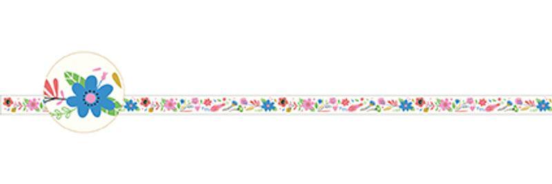 Flowers decorative tape