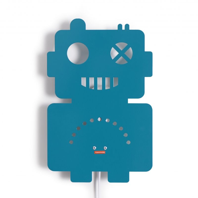 Robot Lamp Petrol Blue