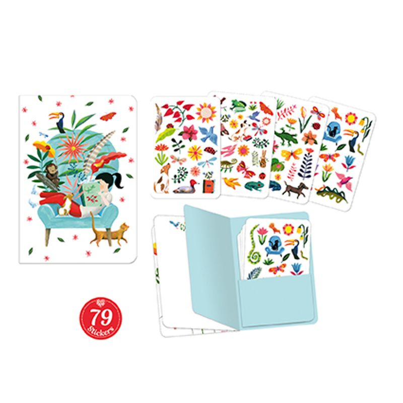 Sarah stickers notebook (79 pcs)