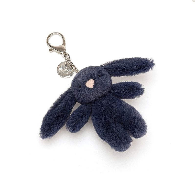 Bashful Navy Bunny Bag Charm