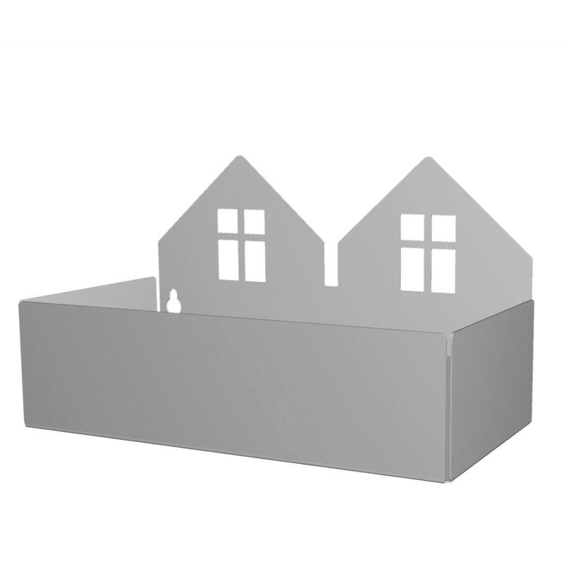 Twin house box, grey