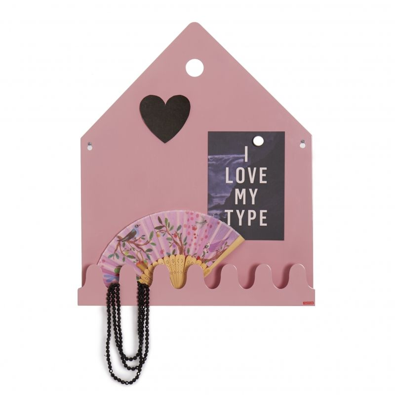 Village Magnetic board Pastel rose