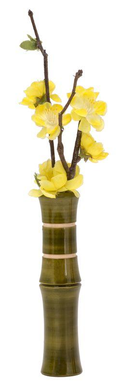 Liix Flower Vase Bamboo Blumenvase für Fahrradlenker grün