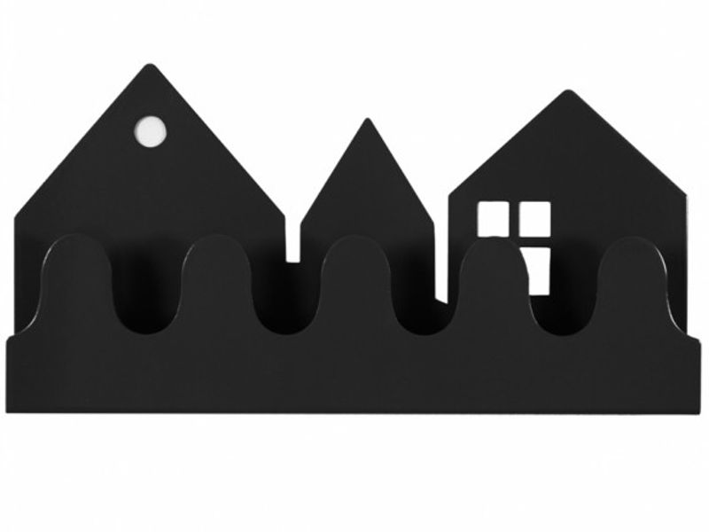 Villa Coat Rack - black