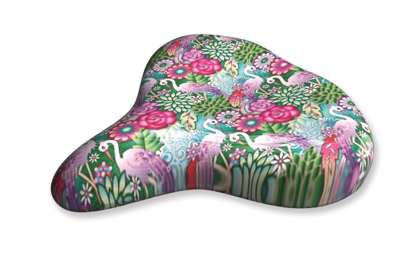 Liix Saddle Cover Catalina Estrada Flowers & Flamingos