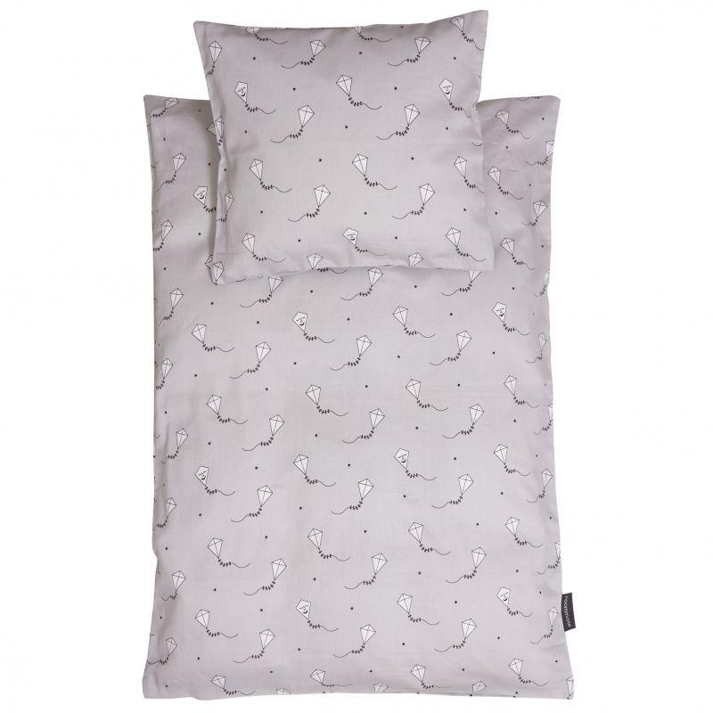 Kite bedset, junior grey/black