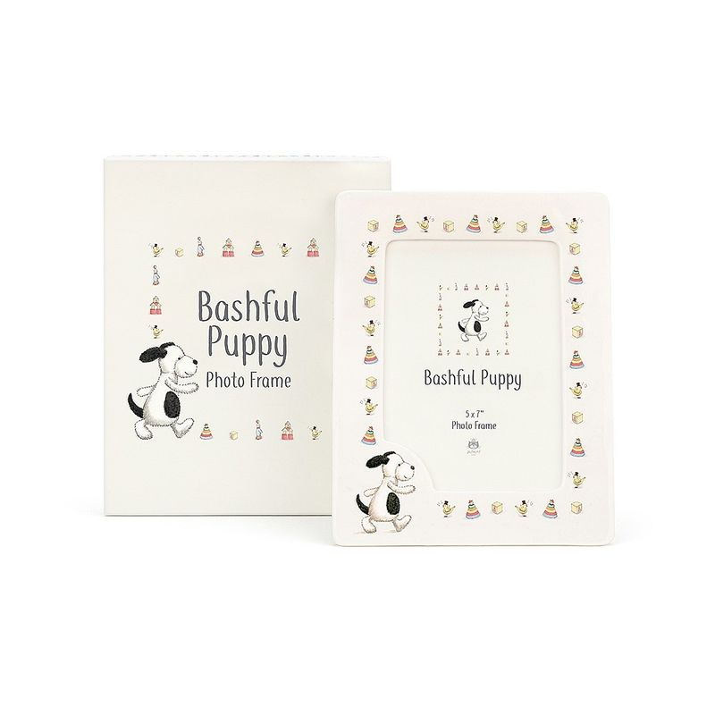 Bashful Puppy Ceramic Frame