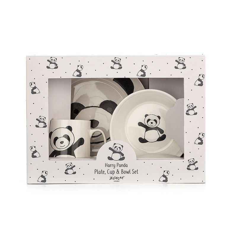 Harry Panda Bowl, Cup & Plate