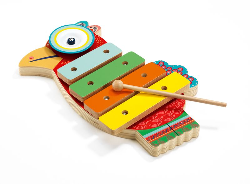 Cymbal and xylophone
